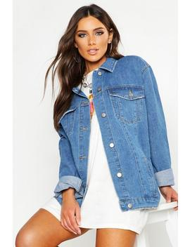 Oversized Trucker Denim Jacket by Boohoo