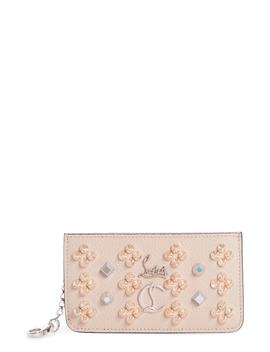 Credilou Calfskin Leather Zip Card Case by Christian Louboutin