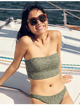 Aerie Crochet Longline Bandeau Bikini Top by American Eagle Outfitters