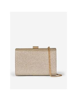 Dorothy Perkins   Gold Box Clutch Bag by Dorothy Perkins