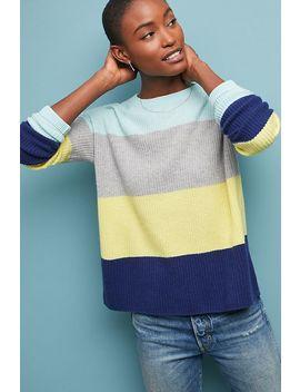 Colourblocked Striped Cashmere Jumper by Cocoa Cashmere