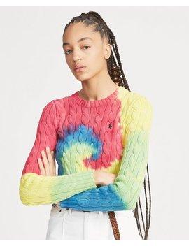 Tie Dye Cable Sweater by Ralph Lauren