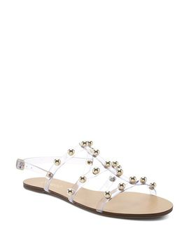 Women's Yarin Studded Flat Sandals by Schutz