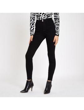 Black Kaia High Waist Disco Jeans by River Island