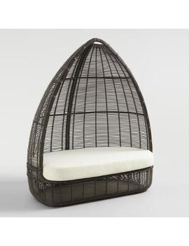 Dark Gray All Weather Wicker Maximus Egg Chair by World Market