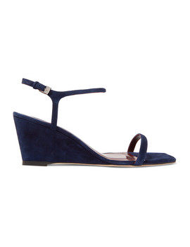 Astrid Suede Wedge Sandals by Staud