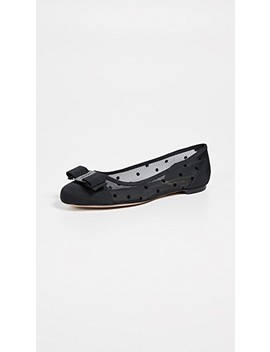 Varina Dot Flats by Salvatore Ferragamo