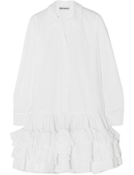 Annie Ruffled Cotton Poplin Mini Dress by Molly Goddard