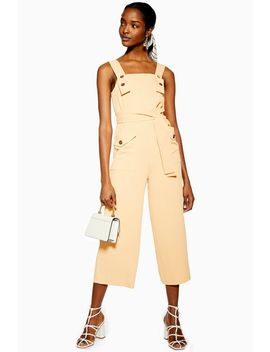 Pinafore Button Jumpsuit by Topshop