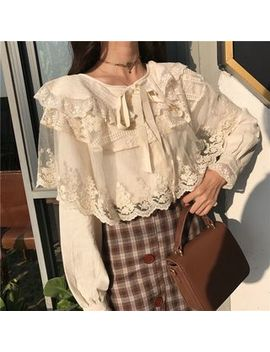 Akanya   Lace Panel Blouse by Akanya