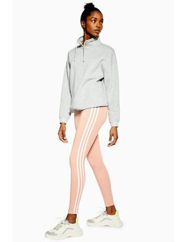 Pink Three Stripe Leggings By Adidas Originals by Topshop