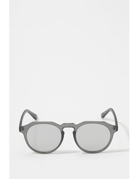 Round Reflective Sunglasses by Urban Planet
