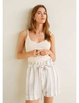 Bow Linen Short by Mango