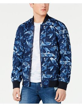 Men's Floral Ace Bomber Jacket, Created For Macy's by American Rag