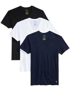 Men's 3 Pk. Cotton Classic V Neck T Shirts by Polo Ralph Lauren