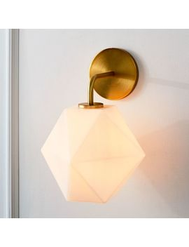 Sculptural Glass Faceted Sconce   Small by West Elm