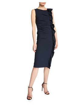 Cleo Ruffled Jersey Dress by Maxmara