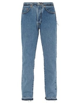 X Levi's Deconstructed Reworked Blue Jeans by Vetements
