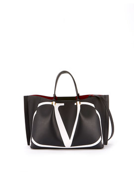 Go Logo Escape Medium Leather Tote Bag by Valentino Garavani