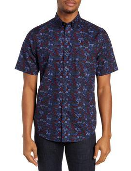 Non Iron Floral Print Sport Shirt by Nordstrom Men's Shop