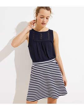 Petite Striped Flare Sailor Skirt by Loft