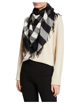 half-mega-check-cashmere-bandana-scarf by burberry