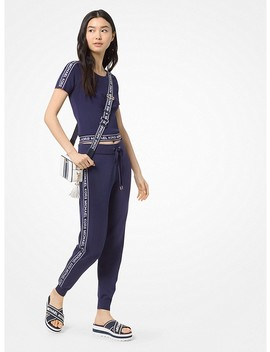 Logo Tape Viscose Joggers by Michael Michael Kors