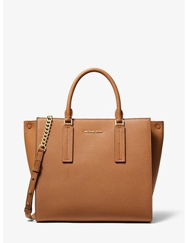 Alessa Large Pebbled Leather Satchel by Michael Michael Kors