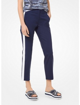 Double Face Stretch Cotton Track Pants by Michael Michael Kors