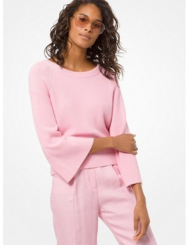 Cotton Blend Wide Sleeve Pullover by Michael Michael Kors