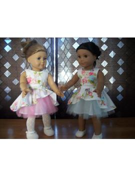 """Handmade 18"""" Doll Dress Tulle And Cotton by Etsy"""
