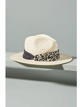 Genie By Eugenia Kim Billie Leopard Trimmed Fedora by Anthropologie