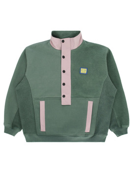 Mockneck Pullover Green by Brain Dead