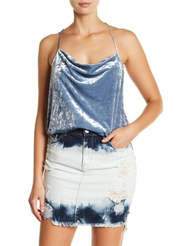 String T Back Crushed Velvet Tank by Afrm