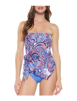 Avant Garde Layered Wrap Tankini Top by Becca By Rebecca Virtue