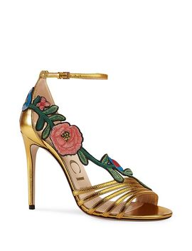 Women's Embroidered High Heel Sandals by Gucci