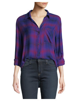 Hunter Plaid Button Down Top by Rails