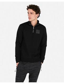Mock Neck Zip Front Sweatshirt by Express