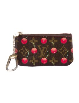 Monogram Cerises Key Pouch by Louis Vuitton