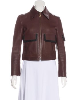Leather Collared Jacket by Louis Vuitton