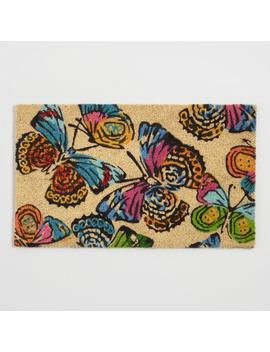 Multicolor Butterfly Coir Doormat by World Market