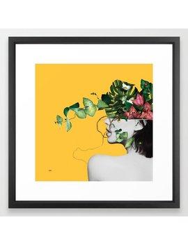Lady Flowers Framed Art Print by Society6