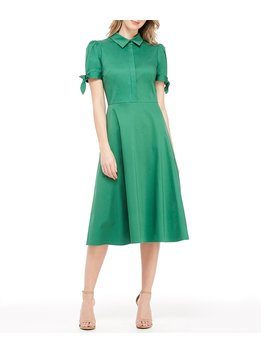 Willow Midi Length Shirt Dress by Gal Meets Glam Collection