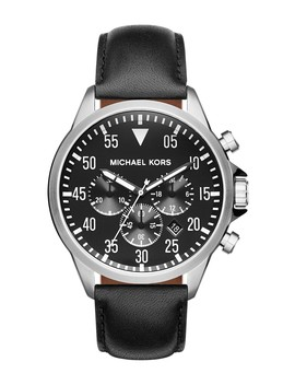 'gage' Chronograph Leather Strap Watch, 45mm by Michael Michael Kors