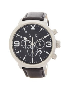 Men's Leather Strap Watch, 49mm by Ax Armani Exchange