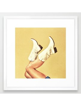 These Boots Framed Art Print by Society6
