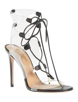 Milos Pvc Lace Up Sandal by Aquazzura