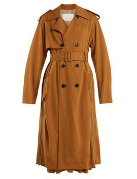 Double Breasted Side Zip Trench Coat by Toga