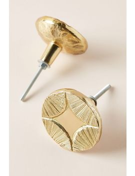Graham Brass Knobs, Set Of 2 by Anthropologie