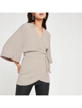 Grey Kimono T Shirt by River Island